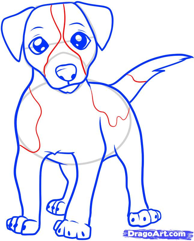 646x803 Jack Russel Drawings Jack Russell Terrier Cartoon How To Draw