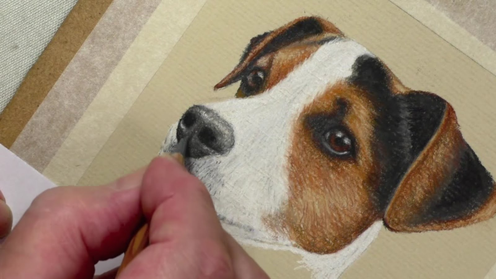 1600x900 Draw A Jack Russell Pastel Pencils