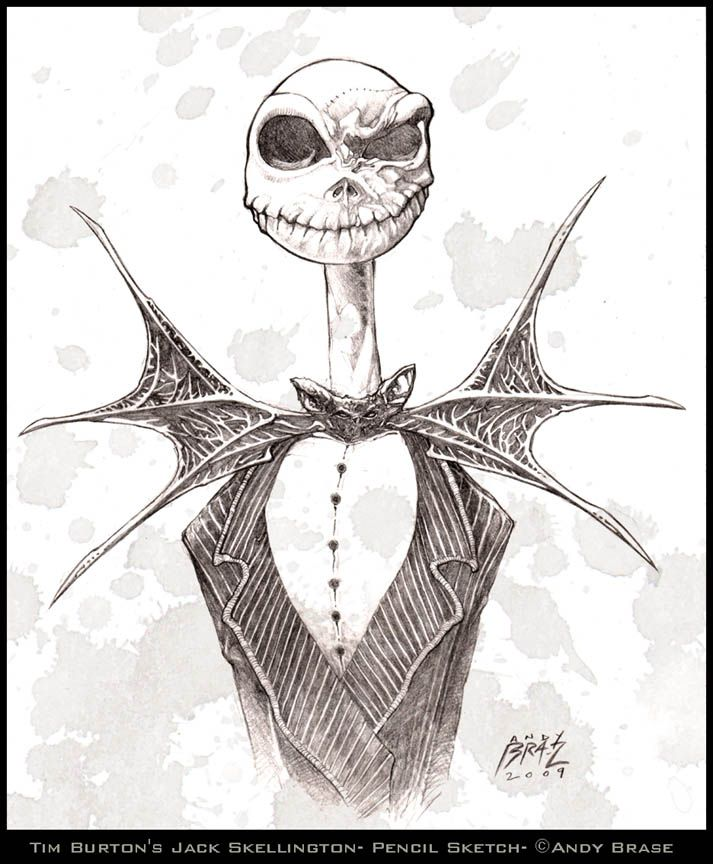 713x864 Jack Skellington Sketch By Andybrase On Art Of Andy