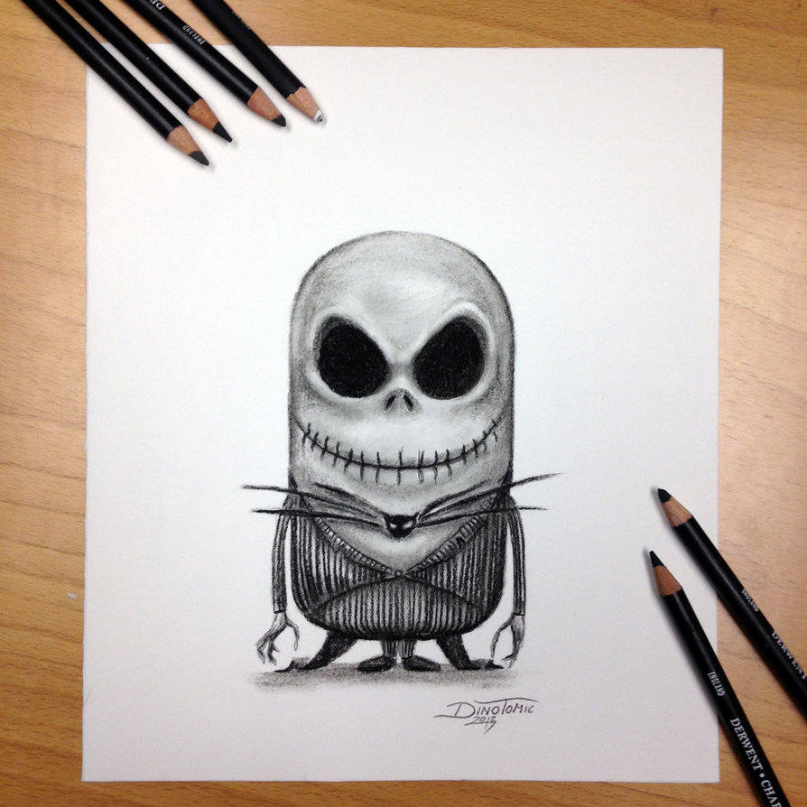 894x894 Minion Jack Skellington Drawing By Atomiccircus