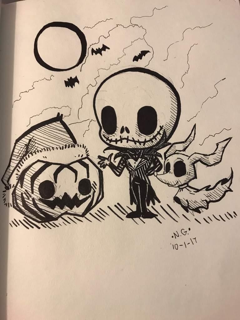 768x1024 My Jack Skellington Drawing Amino