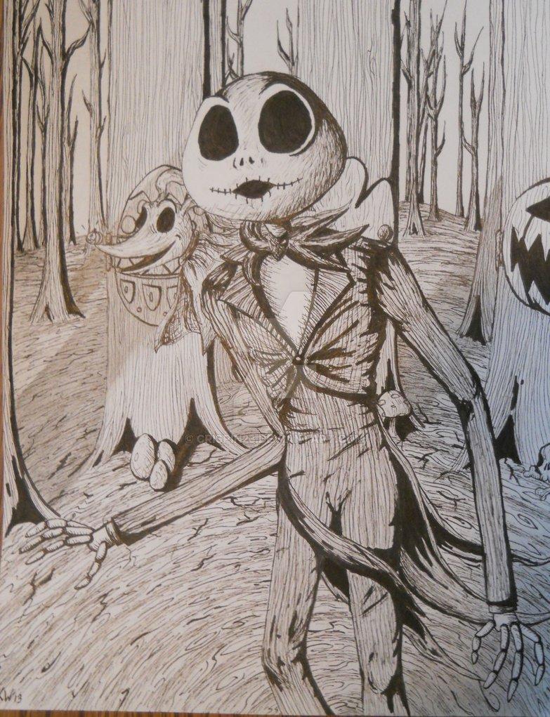 783x1021 Original Jack Skellington Ink Drawing! By Crispin23