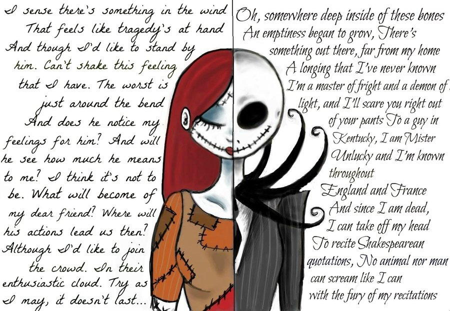 900x622 Sally And Jack (Nightmare Before Christmas) By Willowhisper18