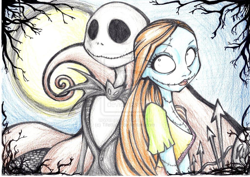Jack Skellington And Sally Drawing at GetDrawings   Free ...
