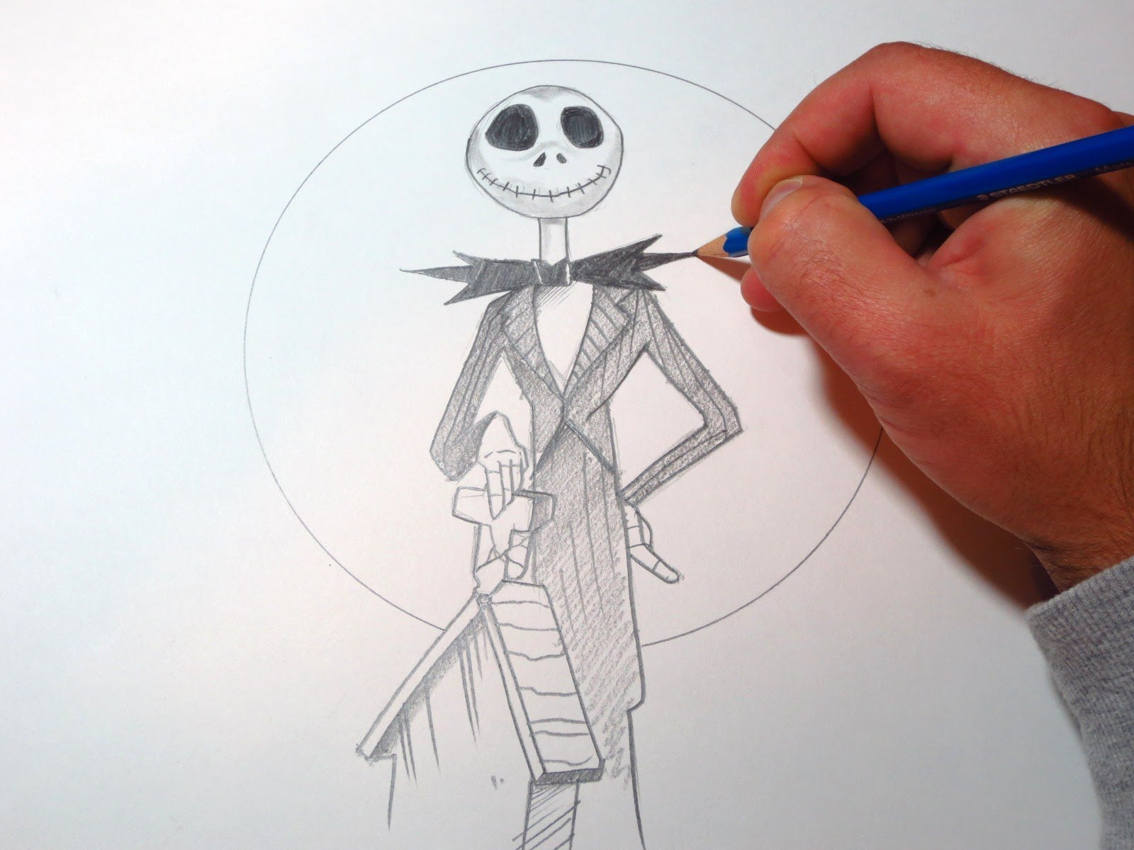 Jack Skellington Drawing at GetDrawings.com | Free for personal use ...