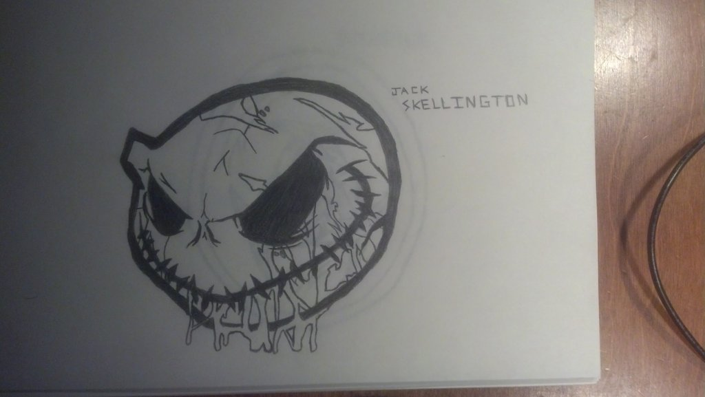 1024x577 Jack Skellington Drawing By Frostonthewindowpane