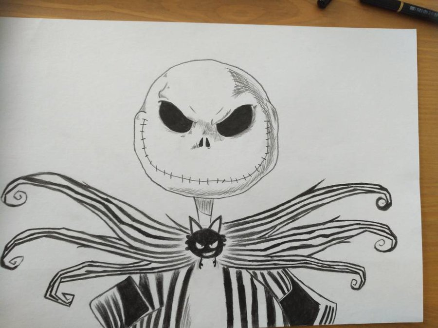 900x673 Jack Skellington Drawing By Laco13