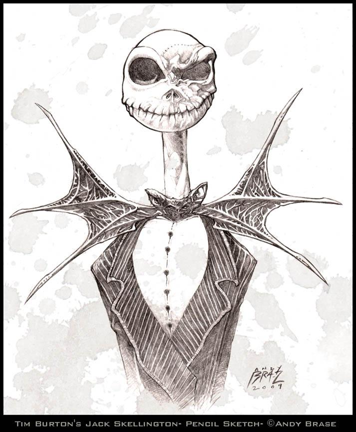 713x864 Jack Skellington Sketch By Andybrase