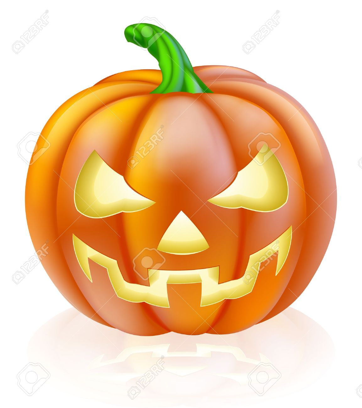 1153x1300 A Drawing Of A Cartoon Halloween Pumpkin With Classic Scary Face