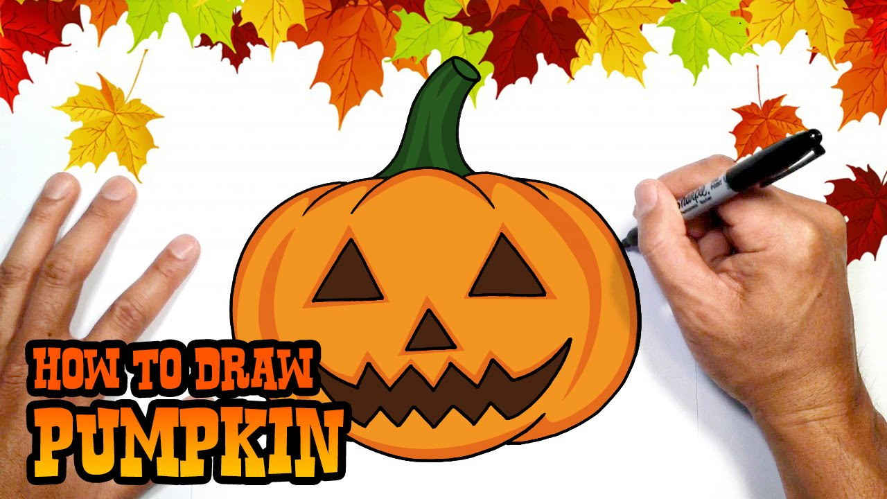 1280x720 How To Draw Halloween Pumpkin Drawing Lesson