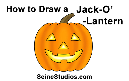 500x315 How To Draw A Halloween Pumpkin (Jack O' Lantern)