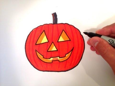 480x360 How To Draw A Jack O' Lantern Pumpkin