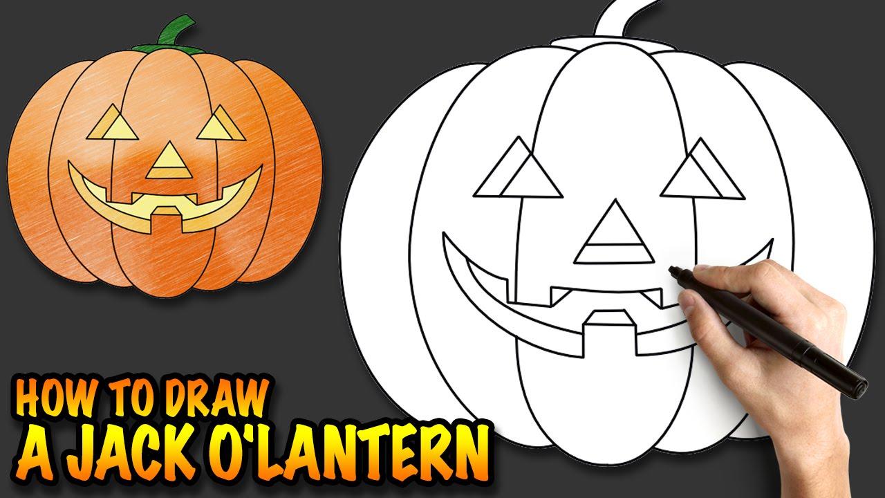 1280x720 How To Draw A Jack O'Lantern