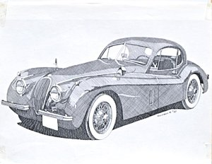 300x232 Jaguar Car Drawings Fine Art America