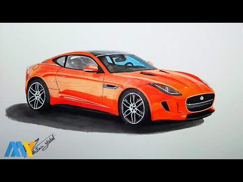 480x360 Jaguar F Type (Car Drawing)