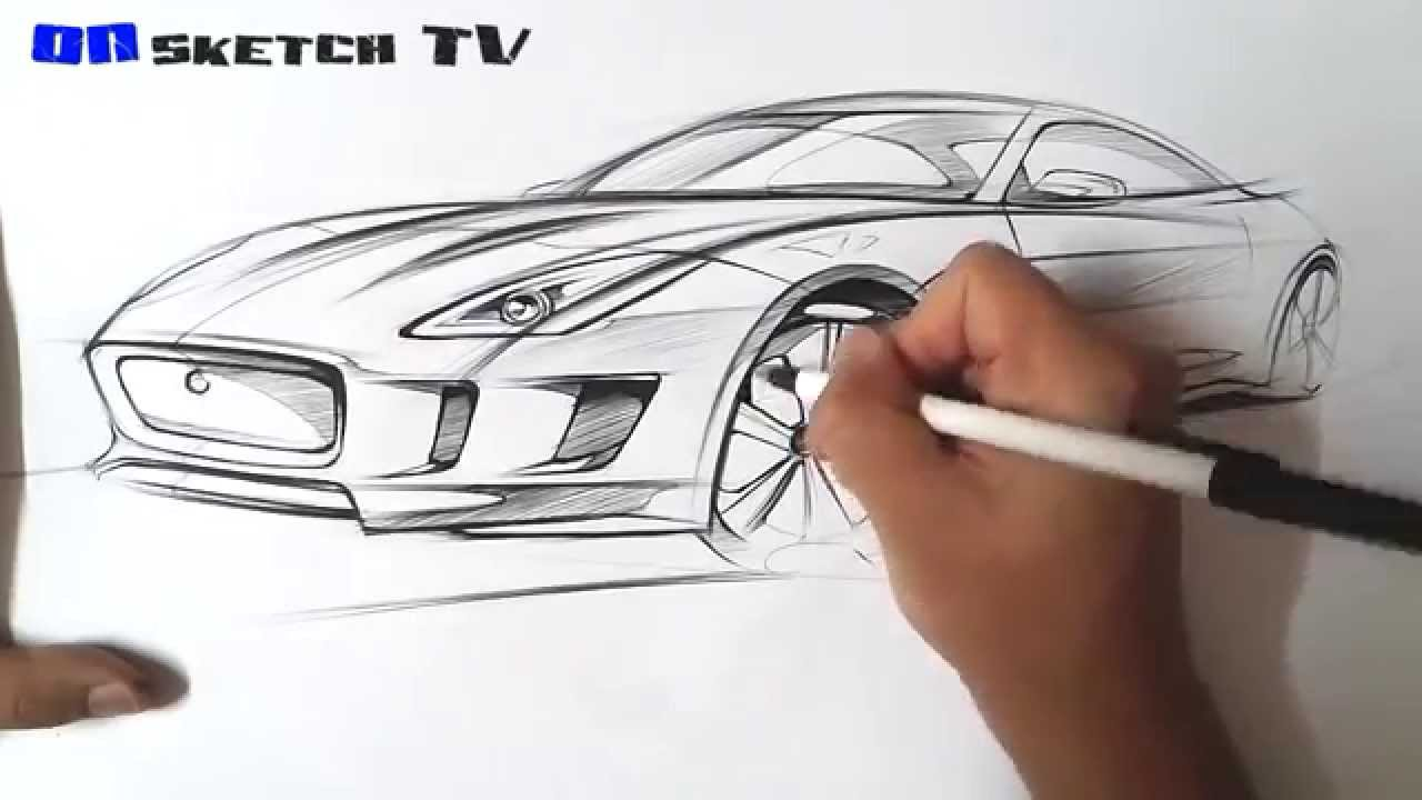 1280x720 Tv Car Sketch