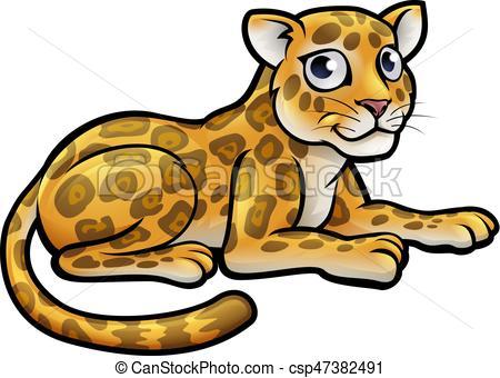 450x340 A Leopard Or Jaguar Cartoon Character Eps Vectors