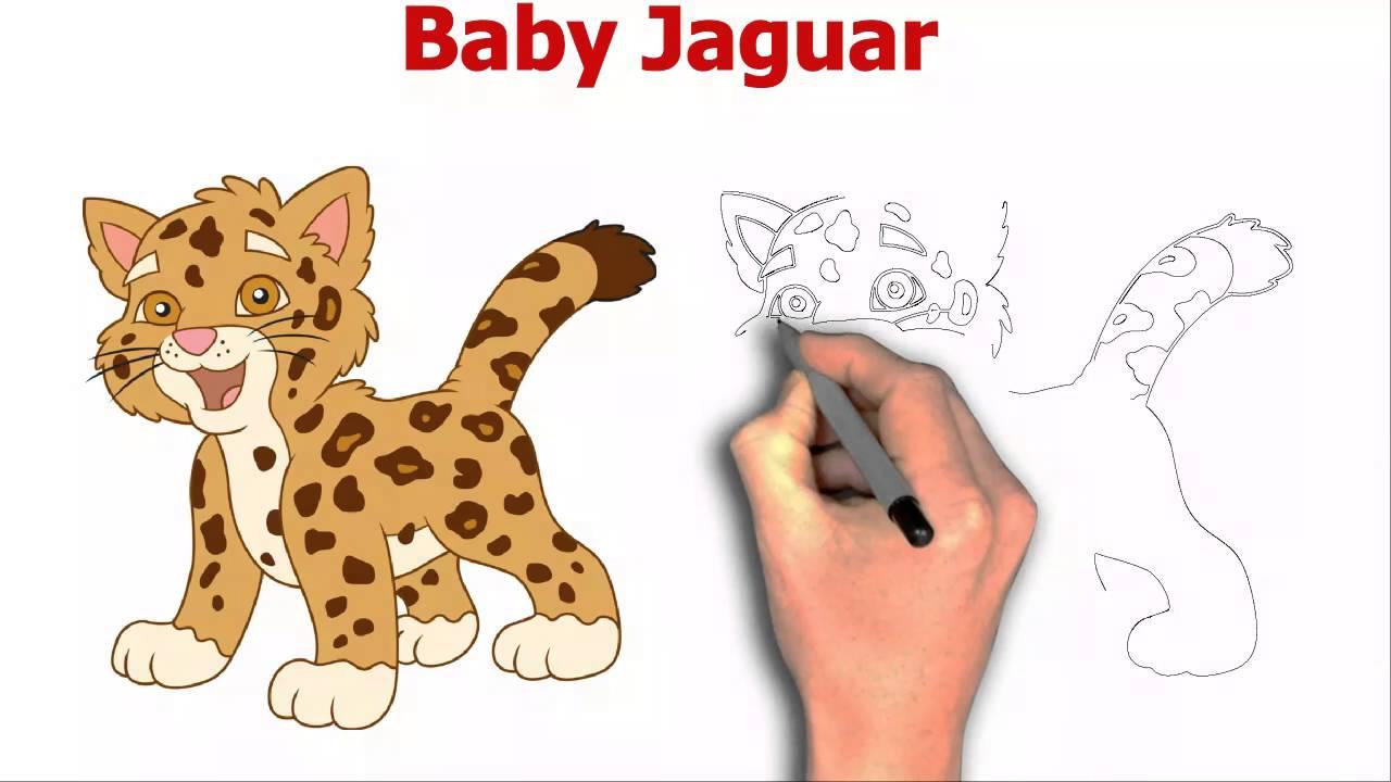 1280x720 How To Draw Baby Jaguar From Dora The Explorer Cartoon