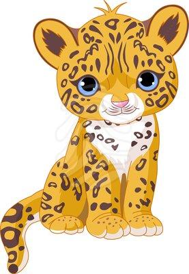 277x400 Cartoons Of Animals Sitting Clip Art Cute Jaguar Cub Cartoons