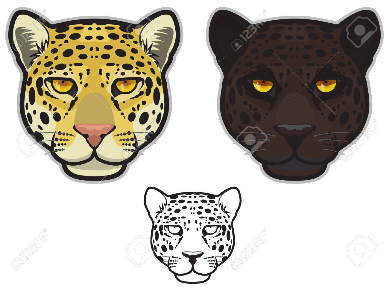 1300x975 Jaguar Face Royalty Free Cliparts, Vectors, And Stock Illustration