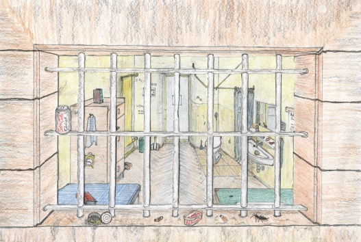 527x354 Ernst Zundel Drawings Of Jail Cell In Germany