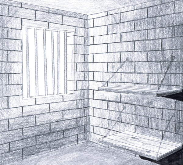 600x541 Lonely Prison Cell By Wiz2111