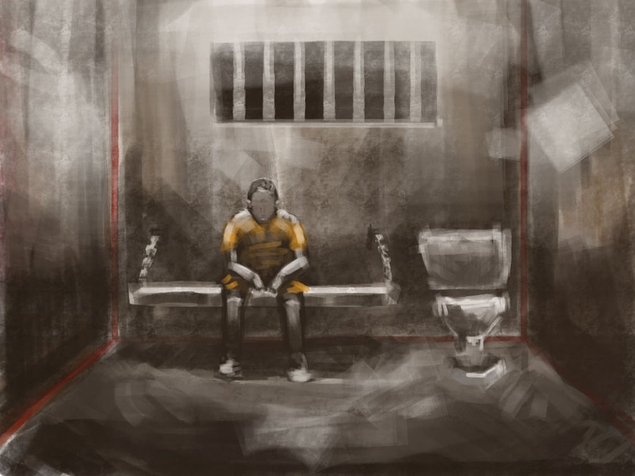 900x675 Prison Cell Sketch By James In The Shell