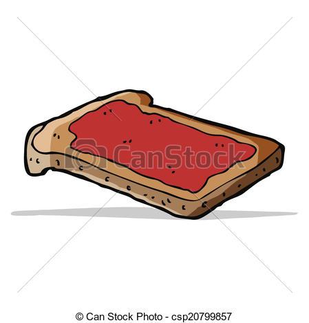 449x470 Cartoon Jam On Toast Clipart Vector