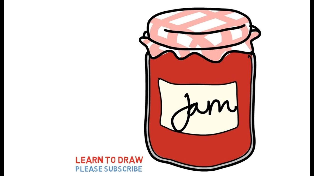 1280x720 Easy Step For Kids How To Draw A Strawberry Jam