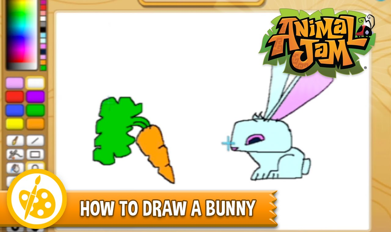 1280x760 Sketch Jam! Learn How To Draw A Bunny From Animal Jam! Sketch