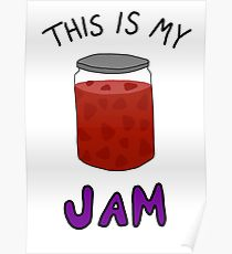210x230 Strawberry Jam Drawing Posters Redbubble