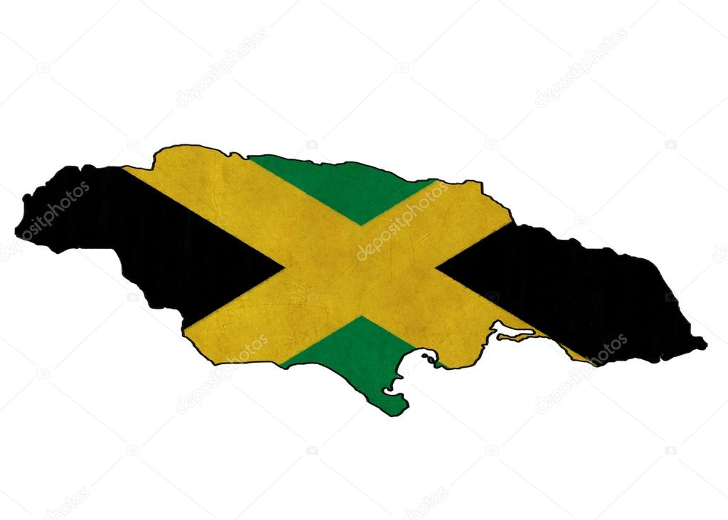1023x731 Jamaica Map On Jamaica Flag Drawing ,grunge And Retro Flag Serie