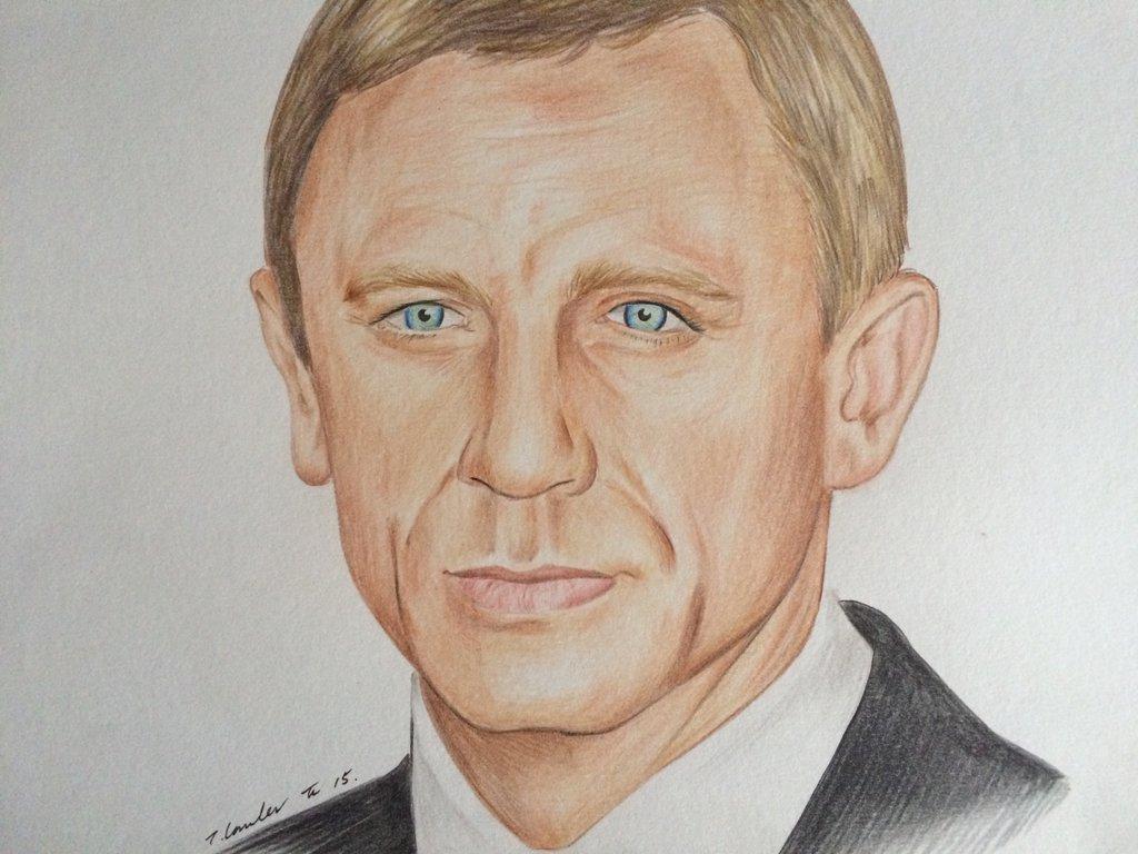 1024x768 Daniel Craig James Bond Pencil Drawing By Billyboyuk