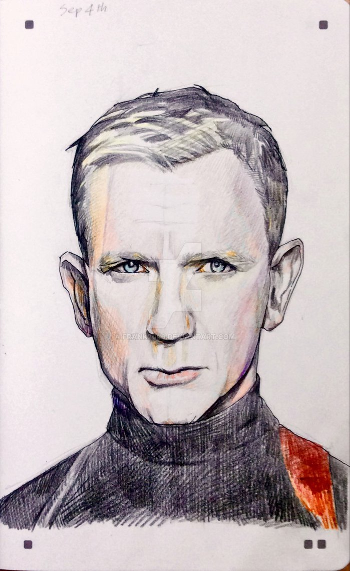 699x1141 Drawing Daniel Craig As James Bond By Frank2046