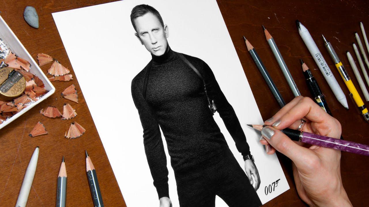 1280x720 Drawing James Bond (Daniel Craig)