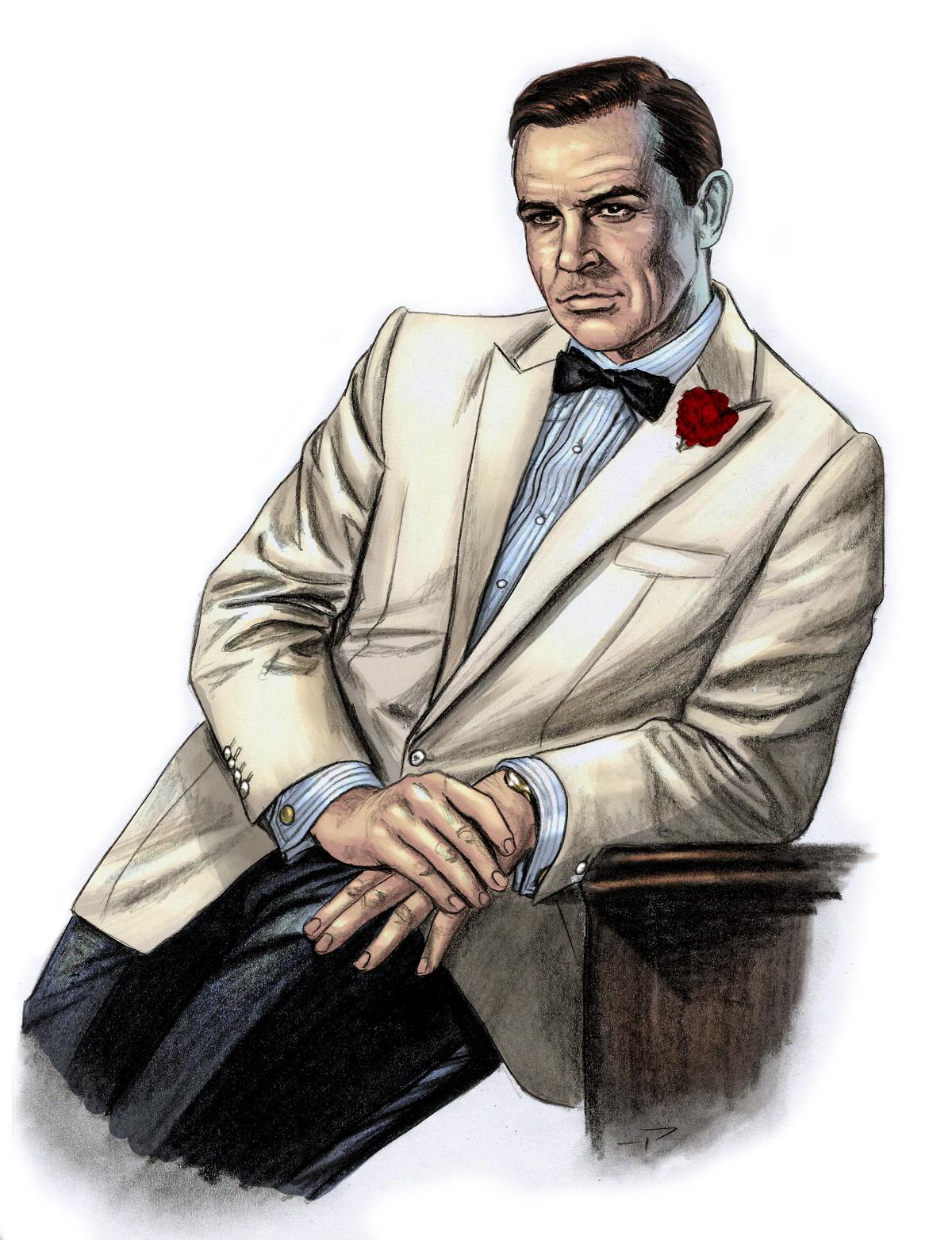 1200x1563 James Bond Black Tie Illustrations By Pat Carbajal The Suits