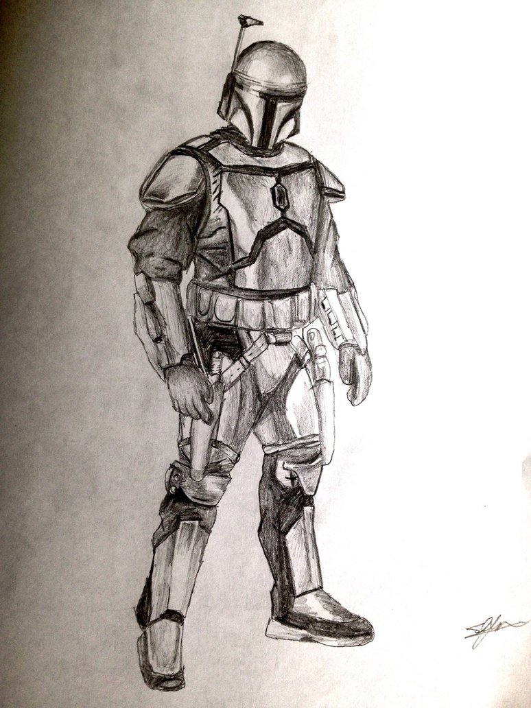 774x1032 Jango Fett Pose Drawing By Mmpr97
