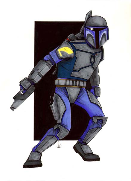 438x605 Patrick's Awesome Reviews How To Draw Jango Fett.