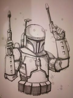 239x320 Jango Fett Drawing This Guy's Book That Had A Ton Of Really