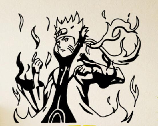553x441 Japanese Cartoon Vinyl Wall Sticker Naruto Hokage Ninjia Anime
