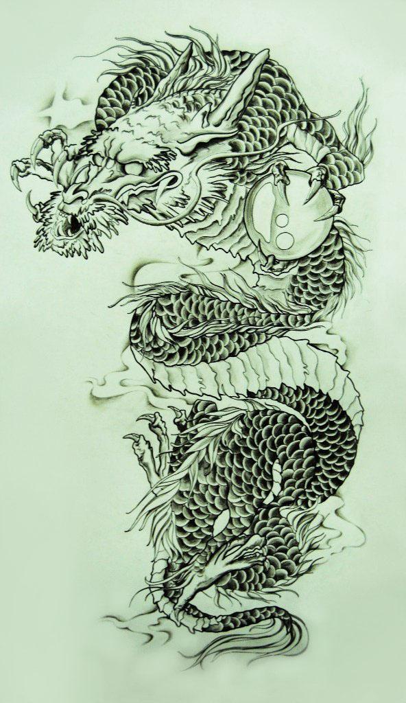 592x1024 Dragon. Japan. By Zapka