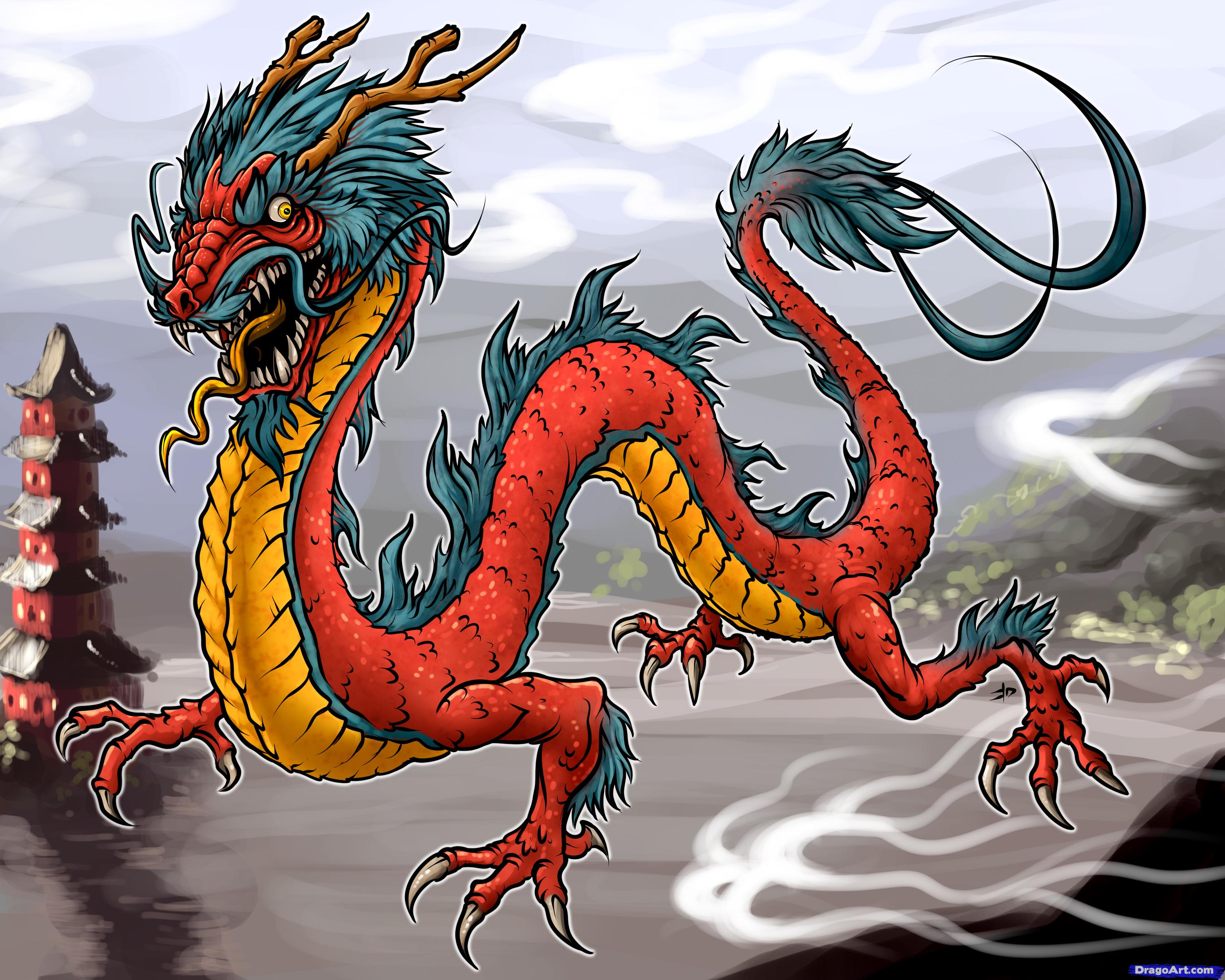 3000x2400 How To Draw Japanese Dragon, Step By Step, Dragons, Draw
