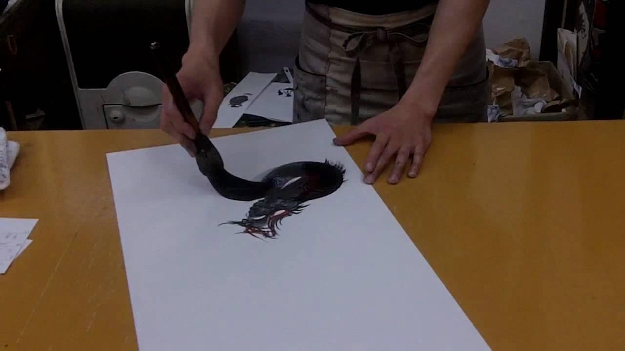 1280x720 Japanese Dragon Painter