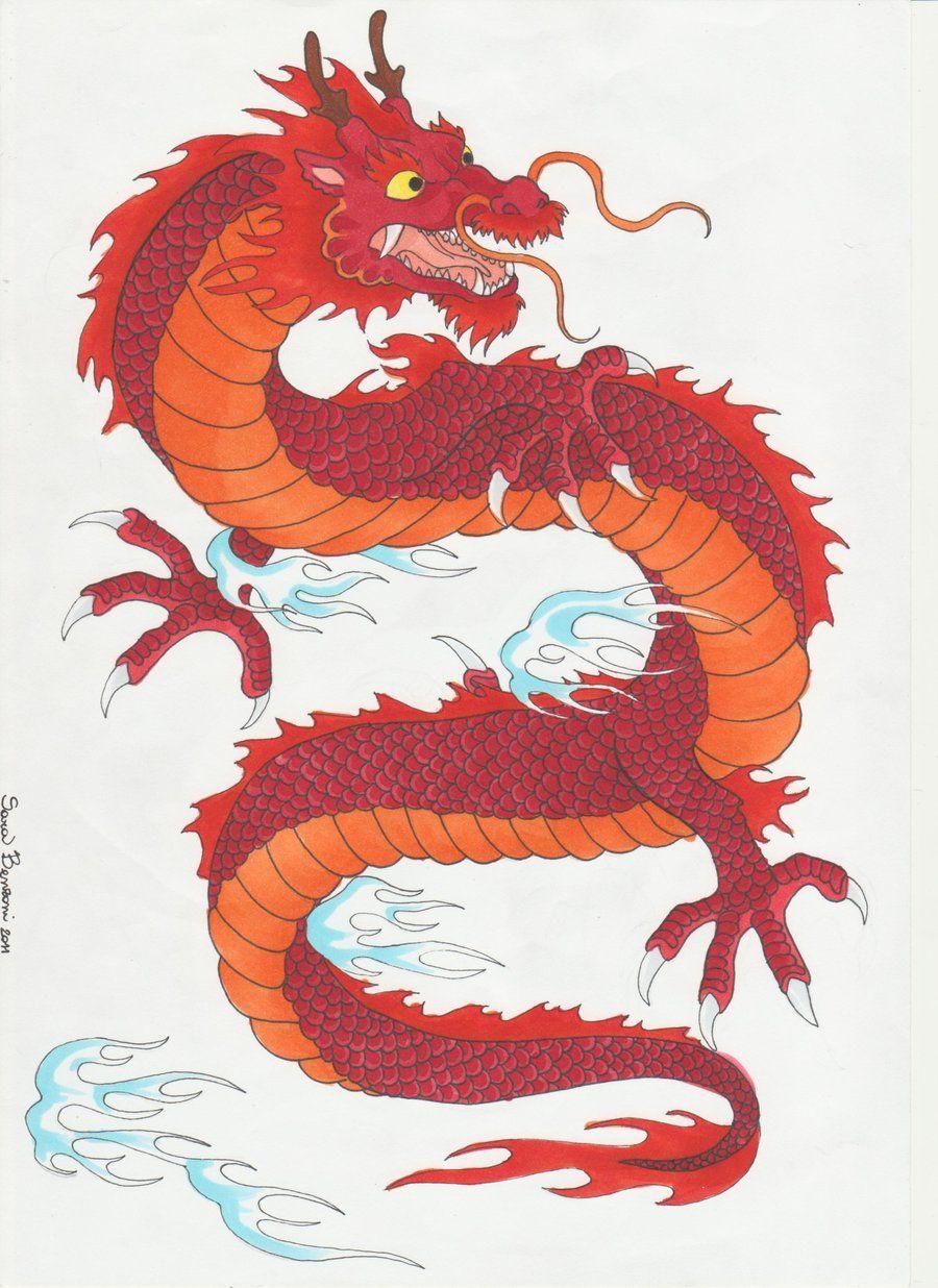 900x1236 Traditional Japanese Dragon
