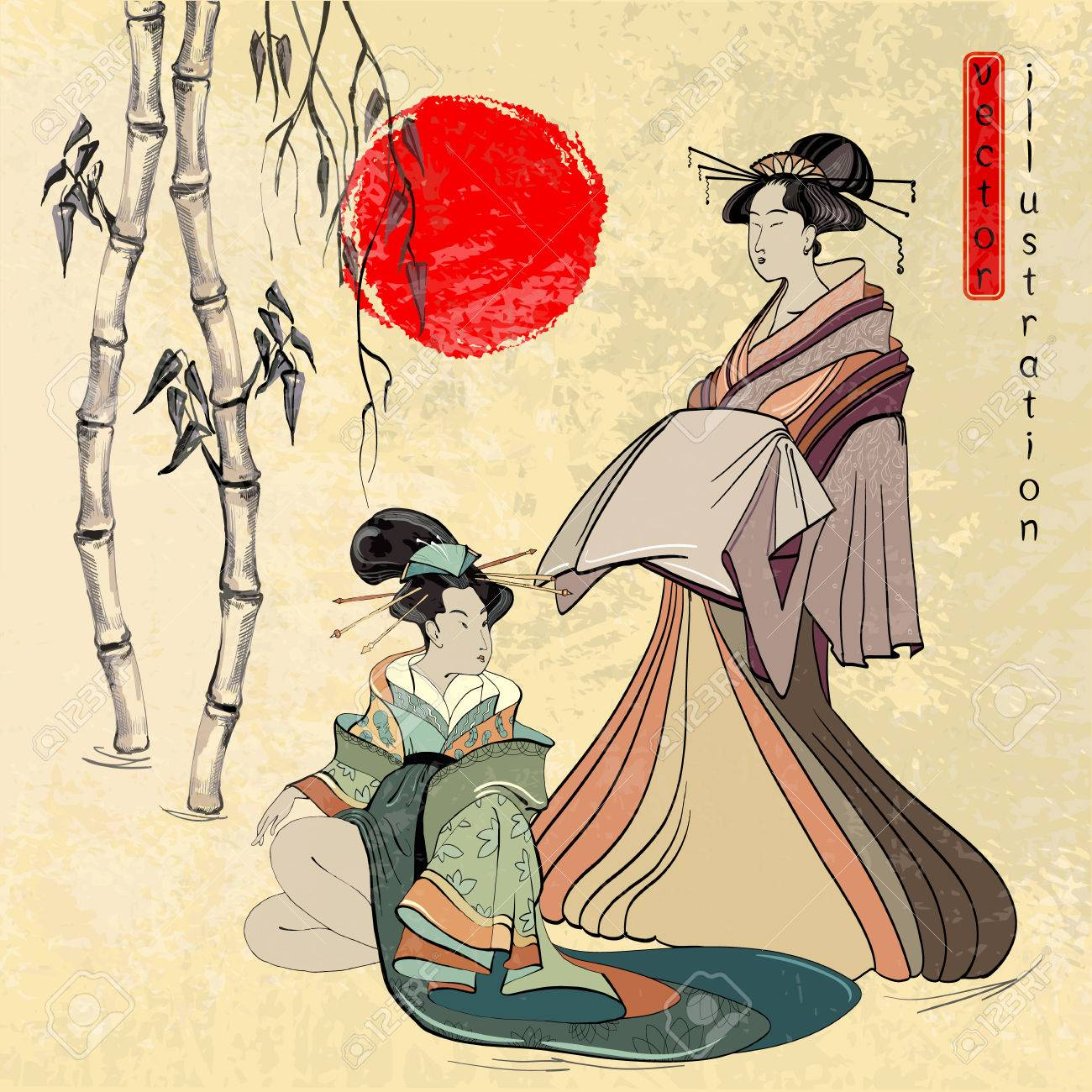 1300x1300 Beautiful Japanese Geisha Girl. Geisha, Ancient Japan, Classical