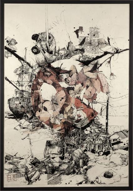 426x610 Disaster In Japan Through Two Drawings Simon Prades