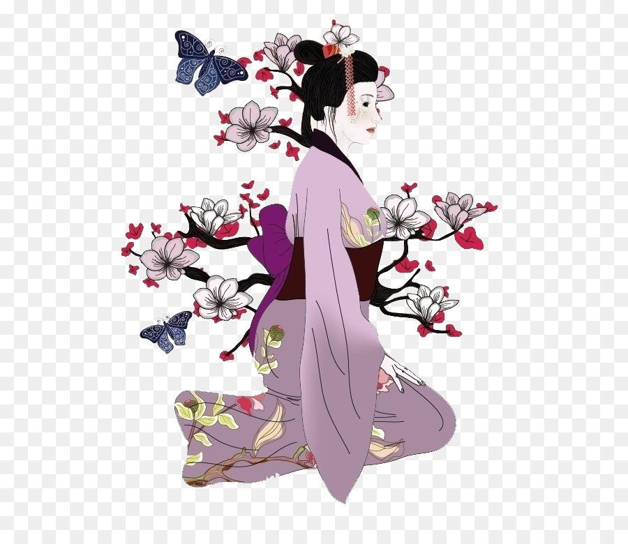 900x780 Japan Geisha Drawing Illustration