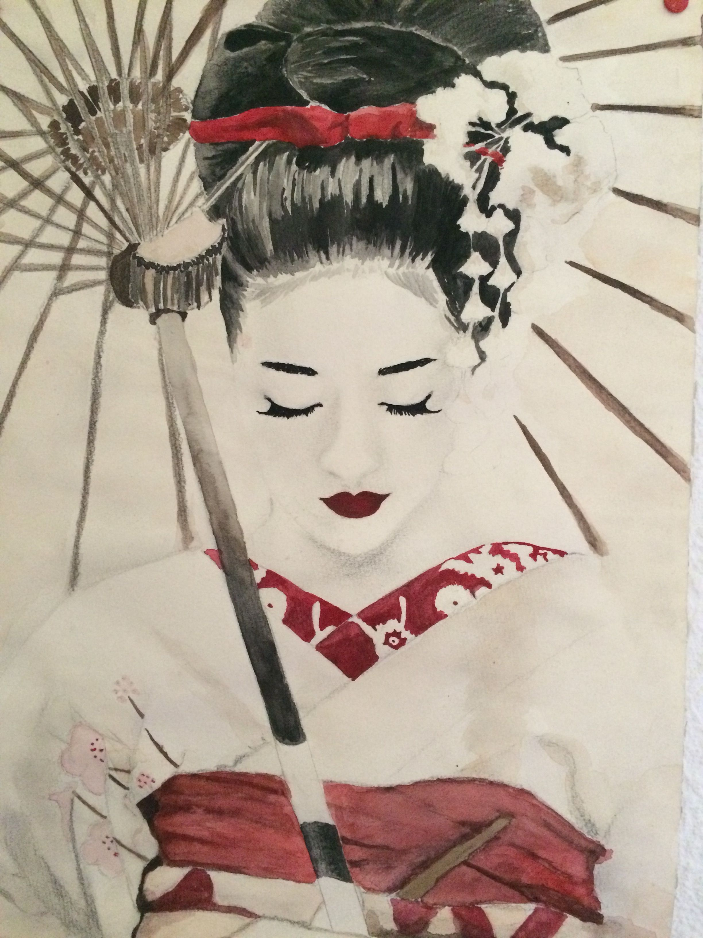 2448x3264 Inspired By Memoires Of A Geisha, Watercolor, Can Be Purchased