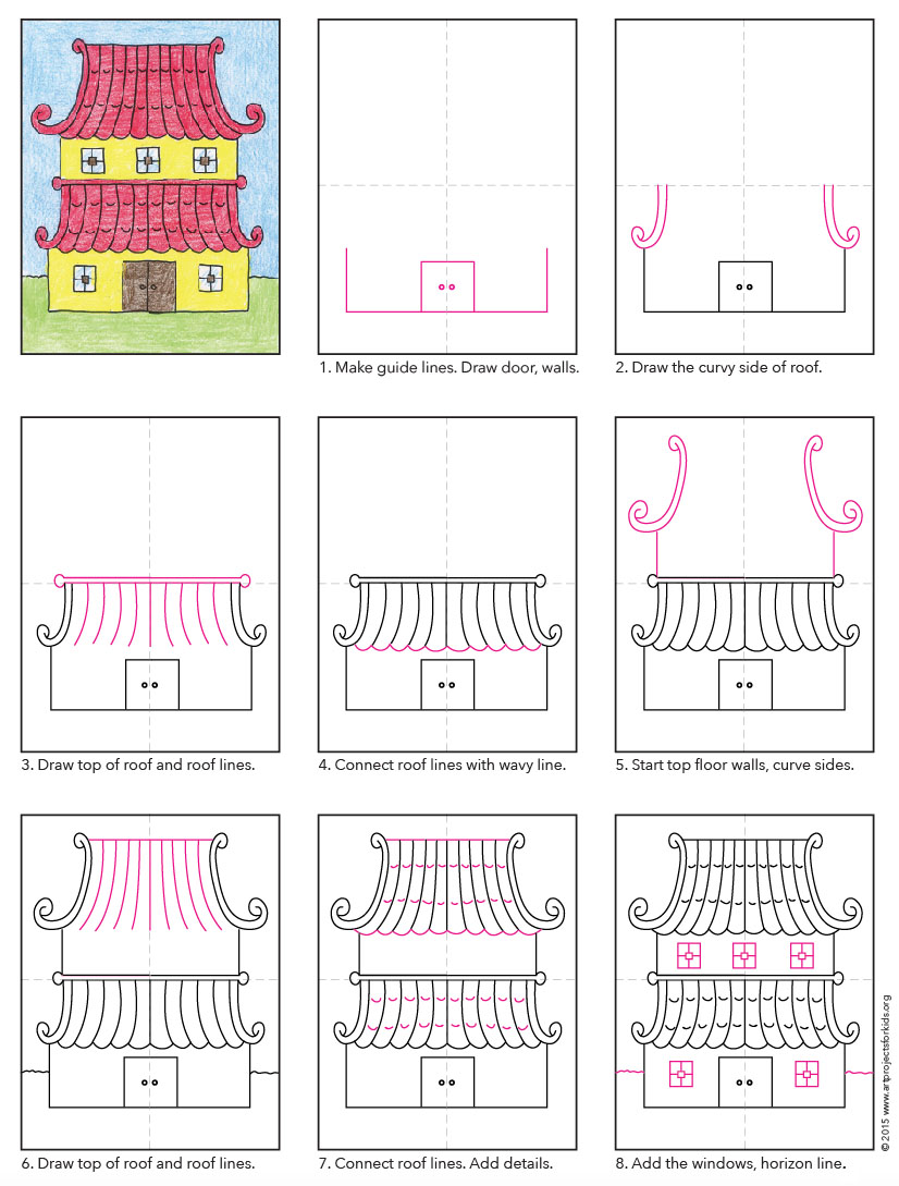 826x1089 Draw A Japanese House