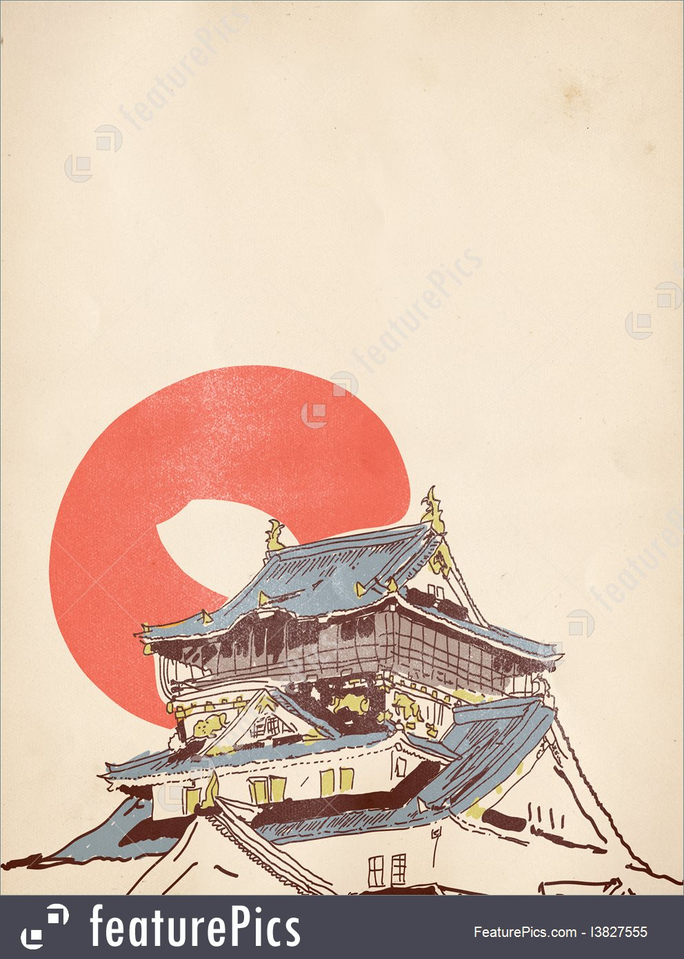 992x1392 Illustration Of Japanese House Drawing